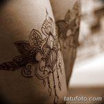 фото Мехенди на ляжке от 25.10.2017 №006 - Mehendi on thigh - tatufoto.com