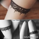 фото Мехенди на ляжке от 25.10.2017 №015 - Mehendi on thigh - tatufoto.com