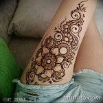 фото Мехенди на ляжке от 25.10.2017 №020 - Mehendi on thigh - tatufoto.com