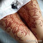 фото Мехенди на ляжке от 25.10.2017 №036 - Mehendi on thigh - tatufoto.com