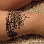 фото Мехенди на ляжке от 25.10.2017 №067 - Mehendi on thigh - tatufoto.com