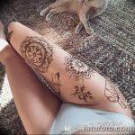фото Мехенди на ляжке от 25.10.2017 №082 - Mehendi on thigh - tatufoto.com