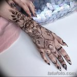 фото Мехенди на предплечье от 28.10.2017 №006 - Mehendi on the forearm - tatufoto.com