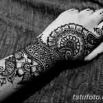 фото Мехенди на предплечье от 28.10.2017 №007 - Mehendi on the forearm - tatufoto.com