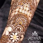 фото Мехенди на предплечье от 28.10.2017 №008 - Mehendi on the forearm - tatufoto.com