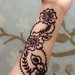 фото Мехенди на предплечье от 28.10.2017 №011 - Mehendi on the forearm - tatufoto.com