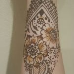 фото Мехенди на предплечье от 28.10.2017 №018 - Mehendi on the forearm - tatufoto.com