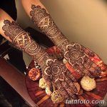 фото Мехенди на предплечье от 28.10.2017 №020 - Mehendi on the forearm - tatufoto.com