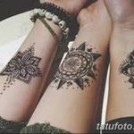 фото Мехенди на предплечье от 28.10.2017 №032 - Mehendi on the forearm - tatufoto.com