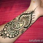 фото Мехенди на предплечье от 28.10.2017 №047 - Mehendi on the forearm - tatufoto.com