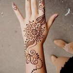 фото Мехенди на предплечье от 28.10.2017 №053 - Mehendi on the forearm - tatufoto.com