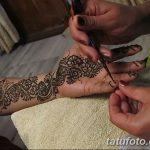 фото Мехенди на предплечье от 28.10.2017 №066 - Mehendi on the forearm - tatufoto.com