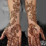фото Мехенди на предплечье от 28.10.2017 №067 - Mehendi on the forearm - tatufoto.com