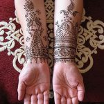 фото Мехенди на предплечье от 28.10.2017 №068 - Mehendi on the forearm - tatufoto.com