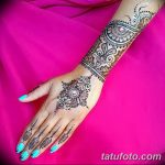 фото Мехенди на предплечье от 28.10.2017 №075 - Mehendi on the forearm - tatufoto.com