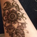 фото Мехенди на предплечье от 28.10.2017 №076 - Mehendi on the forearm - tatufoto.com