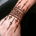 фото Мехенди на предплечье от 28.10.2017 №078 - Mehendi on the forearm - tatufoto.com