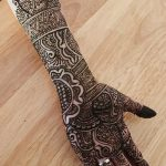 фото Мехенди на предплечье от 28.10.2017 №086 - Mehendi on the forearm - tatufoto.com