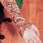 фото Мехенди на предплечье от 28.10.2017 №091 - Mehendi on the forearm - tatufoto.com