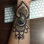 фото Мехенди на предплечье от 28.10.2017 №112 - Mehendi on the forearm - tatufoto.com