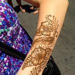 фото Мехенди на предплечье от 28.10.2017 №121 - Mehendi on the forearm - tatufoto.com