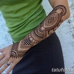 фото Мехенди на предплечье от 28.10.2017 №129 - Mehendi on the forearm - tatufoto.com