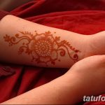 фото Мехенди на предплечье от 28.10.2017 №131 - Mehendi on the forearm - tatufoto.com