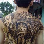 фото Тату в стиле аниме от 21.10.2017 №054 - Tattoo in the style of anime - tatufoto.com