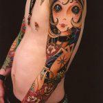 фото Тату в стиле аниме от 21.10.2017 №070 - Tattoo in the style of anime - tatufoto.com