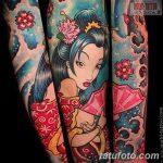 фото Тату в стиле аниме от 21.10.2017 №075 - Tattoo in the style of anime - tatufoto.com