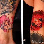фото Тату в стиле аниме от 21.10.2017 №095 - Tattoo in the style of anime - tatufoto.com