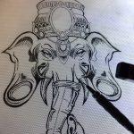 фото Эскизы индийских тату от 09.10.2017 №003 - Sketches of Indian tattoos - tatufoto.com