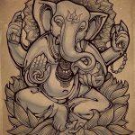 фото Эскизы индийских тату от 09.10.2017 №005 - Sketches of Indian tattoos - tatufoto.com