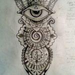 фото Эскизы индийских тату от 09.10.2017 №014 - Sketches of Indian tattoos - tatufoto.com