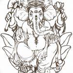 фото Эскизы индийских тату от 09.10.2017 №018 - Sketches of Indian tattoos - tatufoto.com