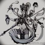 фото Эскизы индийских тату от 09.10.2017 №036 - Sketches of Indian tattoos - tatufoto.com
