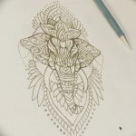 фото Эскизы индийских тату от 09.10.2017 №045 - Sketches of Indian tattoos - tatufoto.com