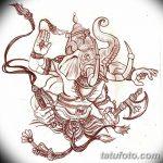 фото Эскизы индийских тату от 09.10.2017 №046 - Sketches of Indian tattoos - tatufoto.com