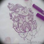 фото Эскизы индийских тату от 09.10.2017 №050 - Sketches of Indian tattoos - tatufoto.com