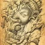 фото Эскизы индийских тату от 09.10.2017 №054 - Sketches of Indian tattoos - tatufoto.com