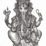 фото Эскизы индийских тату от 09.10.2017 №057 - Sketches of Indian tattoos - tatufoto.com