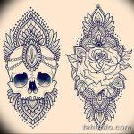 фото Эскизы индийских тату от 09.10.2017 №065 - Sketches of Indian tattoos - tatufoto.com
