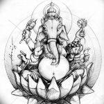 фото Эскизы индийских тату от 09.10.2017 №071 - Sketches of Indian tattoos - tatufoto.com