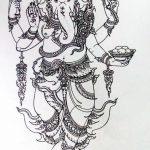 фото Эскизы индийских тату от 09.10.2017 №072 - Sketches of Indian tattoos - tatufoto.com