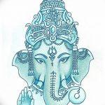 фото Эскизы индийских тату от 09.10.2017 №073 - Sketches of Indian tattoos - tatufoto.com