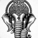фото Эскизы индийских тату от 09.10.2017 №098 - Sketches of Indian tattoos - tatufoto.com