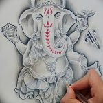 фото Эскизы индийских тату от 09.10.2017 №111 - Sketches of Indian tattoos - tatufoto.com