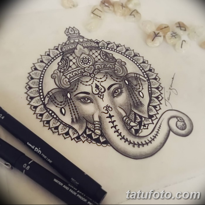 фото Эскизы индийских тату от 09.10.2017 №124 - Sketches of Indian tattoos - tatufoto.com