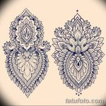 фото Эскизы индийских тату от 09.10.2017 №131 - Sketches of Indian tattoos - tatufoto.com