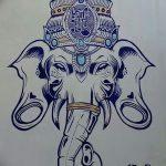 фото Эскизы индийских тату от 09.10.2017 №139 - Sketches of Indian tattoos - tatufoto.com